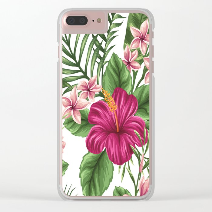 FLORAL PATTERN 9 Clear iPhone Case