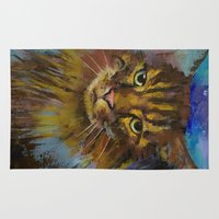luna lovegood Area & Throw Rugs featuring Luna by Michael Creese