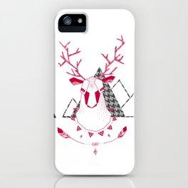 Christmas Geo Deer 7 iPhone Case
