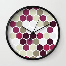 Texture hexagons - Berry Wall Clock