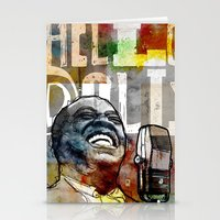 louis armstrong Stationery Cards featuring Louis Armstrong: Hello Dolly! by Ed Pires