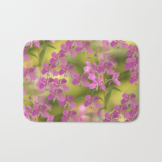 Rosebay Willowherb flowers  Bath Mat