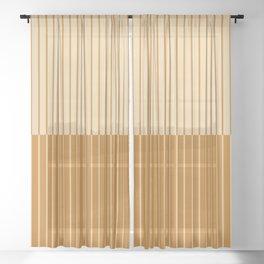 Color Block Lines XVIII Sheer Curtain