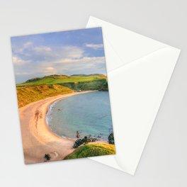 Porthor Bay at Sundown Stationery Cards