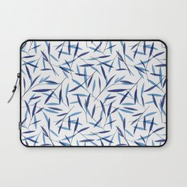 Blue Bamboo Leaves Laptop Sleeve