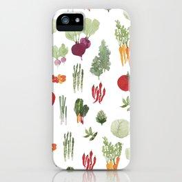 Fresh Vegetables Watercolor iPhone Case