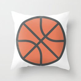 Basketball Icon Throw Pillow