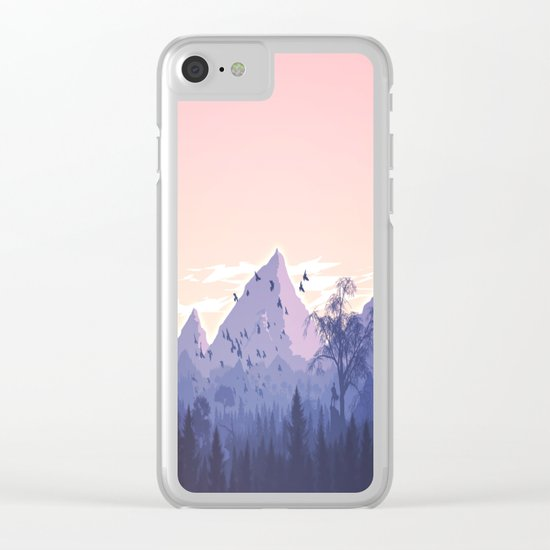 Lovely Nature Art Work Painted Clear iPhone Case