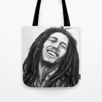 marley Tote Bags featuring Marley ballpoint pen by David Kokot