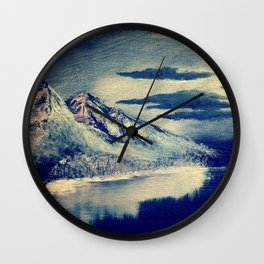 Moon Light Over The Mountain Wall Clock