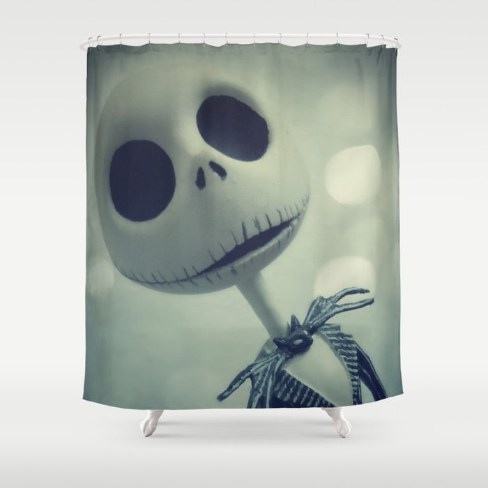 mr jack nightmare before christmas shower curtain