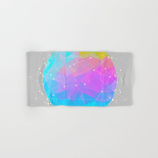 The Dots Will Somehow Connect (Geometric Sphere) Hand & Bath Towel