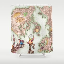 Map of Mutha Oith Shower Curtain