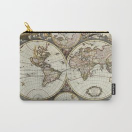Vintage World Map Carry-All Pouch