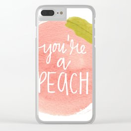 You're a Peach Watercolor Painting Clear iPhone Case
