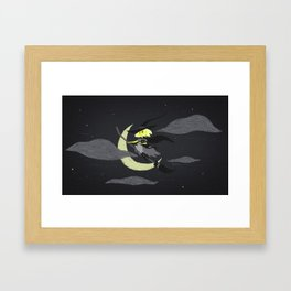 Lavinia the Yellow Witch Framed Art Print