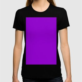 color dark violet T-shirt