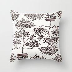 Bonsai Tree – Black Palette Throw Pillow