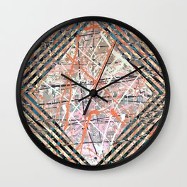 Flight of Color - diamond blue graphic Wall Clock