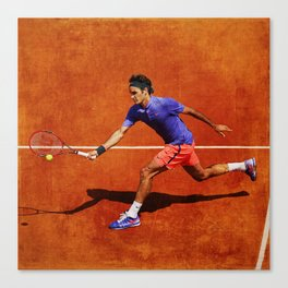 Roger Federer Tennis Chip Return Canvas Print