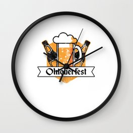 Cool Oktoberfest German Beer Festival Bier Drinkers Wall Clock