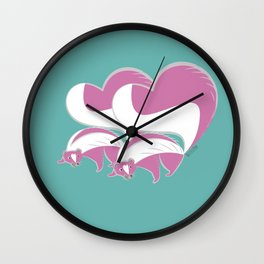 Pink Skunk (pair) (c) 2017 Wall Clock