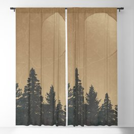 Wild Pines: Rustic Outdoor Landscape Blackout Curtain