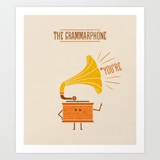 Grammarphone Art Print