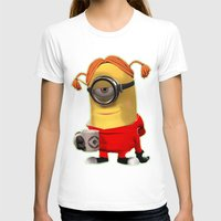 minion T-shirts featuring MINION by DisPrints