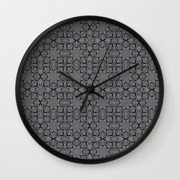 Sharkskin Geometric Wall Clock