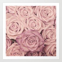 Some People Grumble - Pink Rose Pattern - Roses Art Print