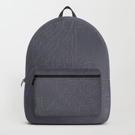 Cool Brushed Metal with a Stamped Design Backpack