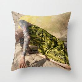 Burnin' Throw Pillow