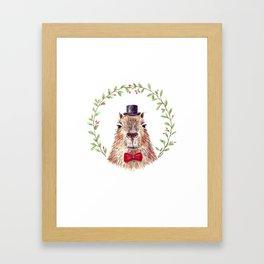 Sir Capybara Framed Art Print