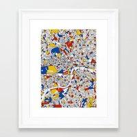 mondrian Framed Art Prints featuring London Mondrian by Mondrian Maps