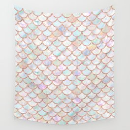 Pastel Memaid Scales Pattern Wall Tapestry