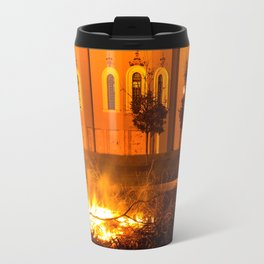 glowing church Travel Mug