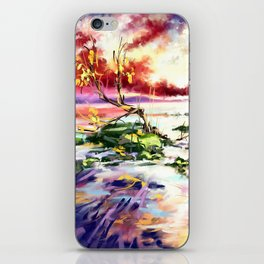 Evening at the beach iPhone Skin
