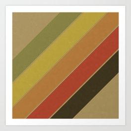 Retro Circus Color Palette Art Print