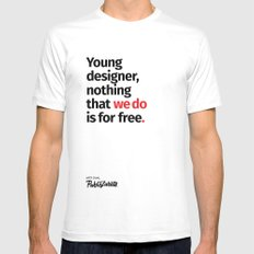 Young Designer — Advice #8 White MEDIUM Mens Fitted Tee