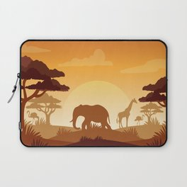 Abstract African Safari Laptop Sleeve