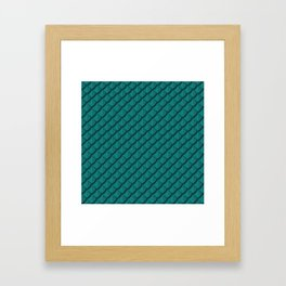 Elegant Teal Dragon Scale Framed Art Print