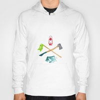 camping Hoodies featuring Camping by Whimsy Milieu