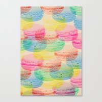 macaroon Canvas Prints featuring Macaroon Madness by Tyler Spangler