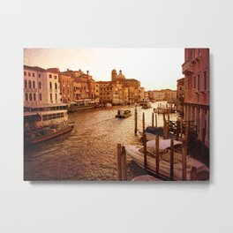 Grande Canal at Dusk Metal Print