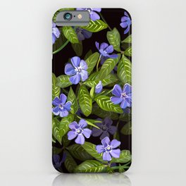 Periwinkle Days Pattern | Black iPhone Case