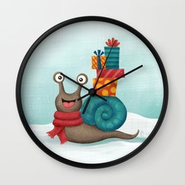 Holiday Snail Wall Clock