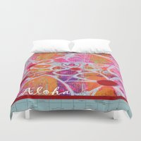 aloha Duvet Covers featuring Aloha by E.Seefried Art