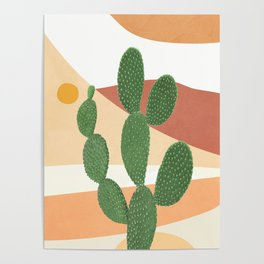 Abstract Cactus II Poster