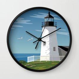 Pemaquid Point Lighthouse Wall Clock